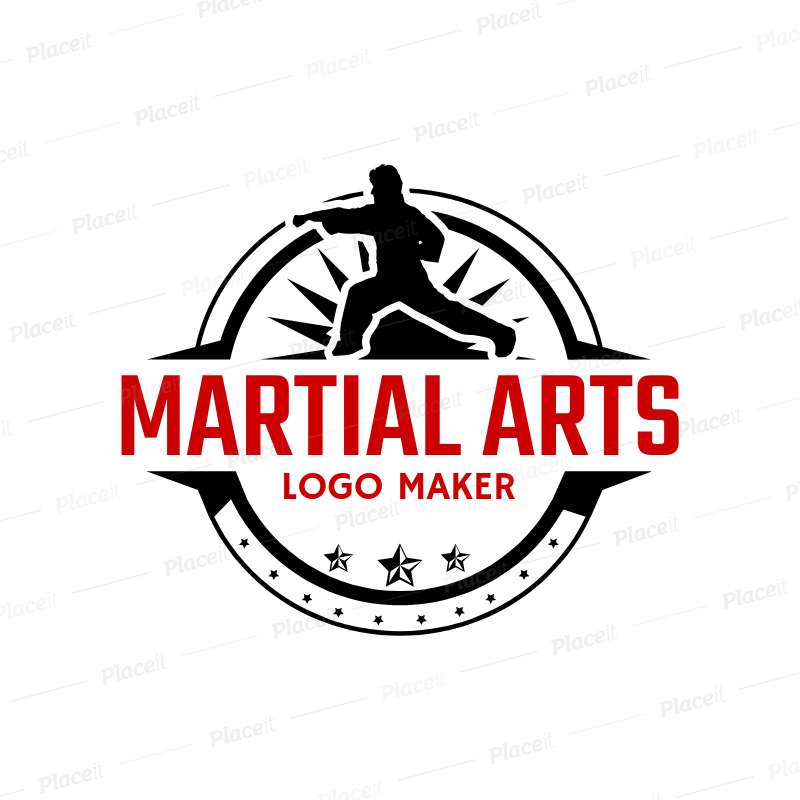 Placeit Martial Arts Logo Maker With Karate Clipart