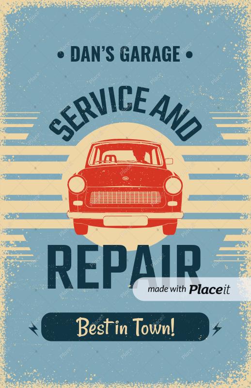 placeit flyer maker for auto repair shops