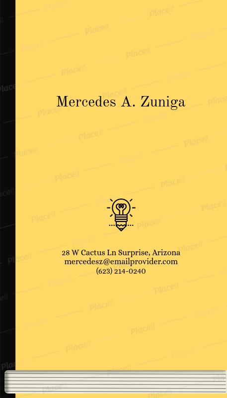 Placeit freelance writer business card maker freelance writer business card maker 205cforeground image colourmoves