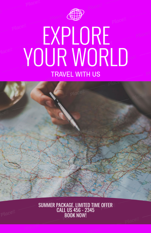 Placeit travel agency flyer maker with map picture travel agency flyer maker with map picture 307aforeground image gumiabroncs Gallery
