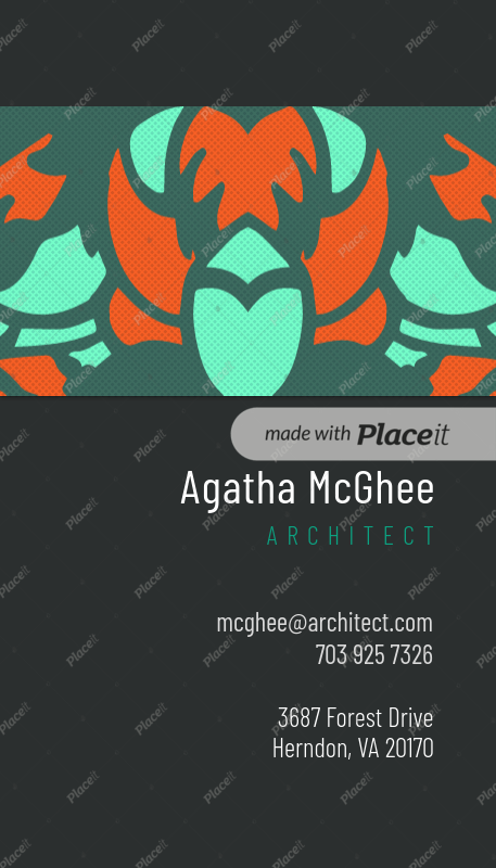Placeit business card template with artistic pattern designs generic business card maker 571foreground image friedricerecipe Gallery