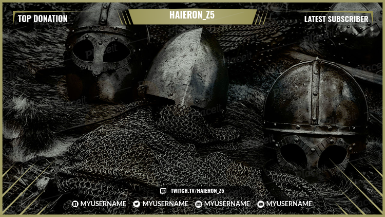 Twitch Overlay Maker for Medieval Gaming Streamers 1071