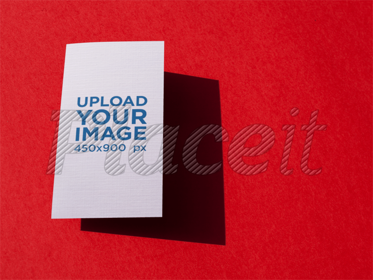 Placeit vertical business card template floating over a red surface vertical business card template floating over a red surface a15015foreground image fbccfo Gallery