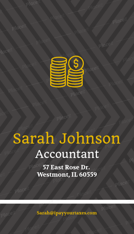accountant business card maker with money icons 332cforeground image - Accountant Business Card