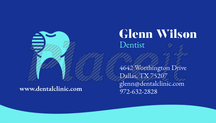 Placeit simple dental professional business card template simple dental professional business card template 562bforeground image cheaphphosting