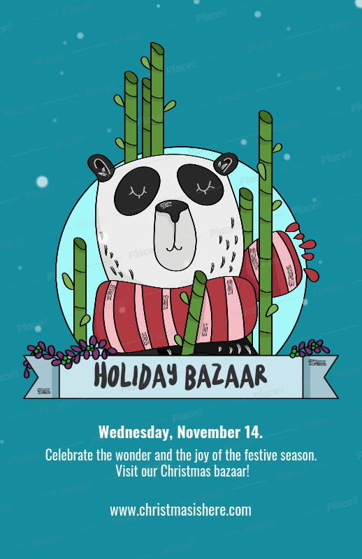 placeit holiday bazaar flyer template for christmas