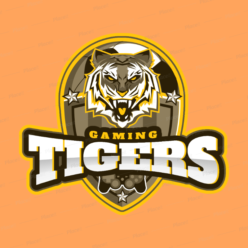 placeit gaming logo maker with tiger graphics gaming logo maker with tiger graphics 1748d