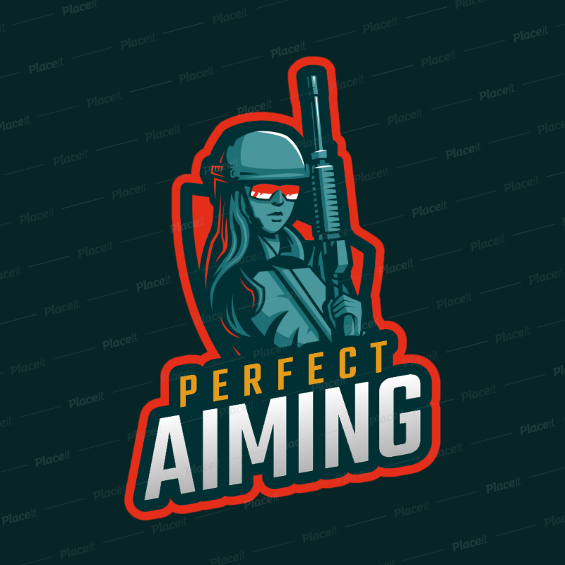 Placeit Gaming Logo Maker Featuring A Female Sniper