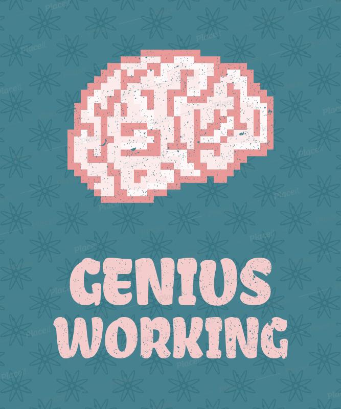 Pixel Art Brain T Shirt Design Maker 28e Foreground Image