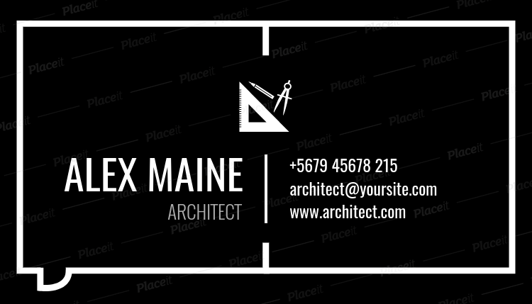 Placeit business card maker to design architect business cards architectecture business card maker a319foreground image reheart Images