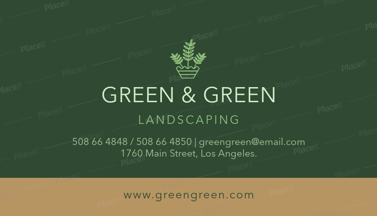 landscaping business card creator 652foreground image - Landscaping Business Cards