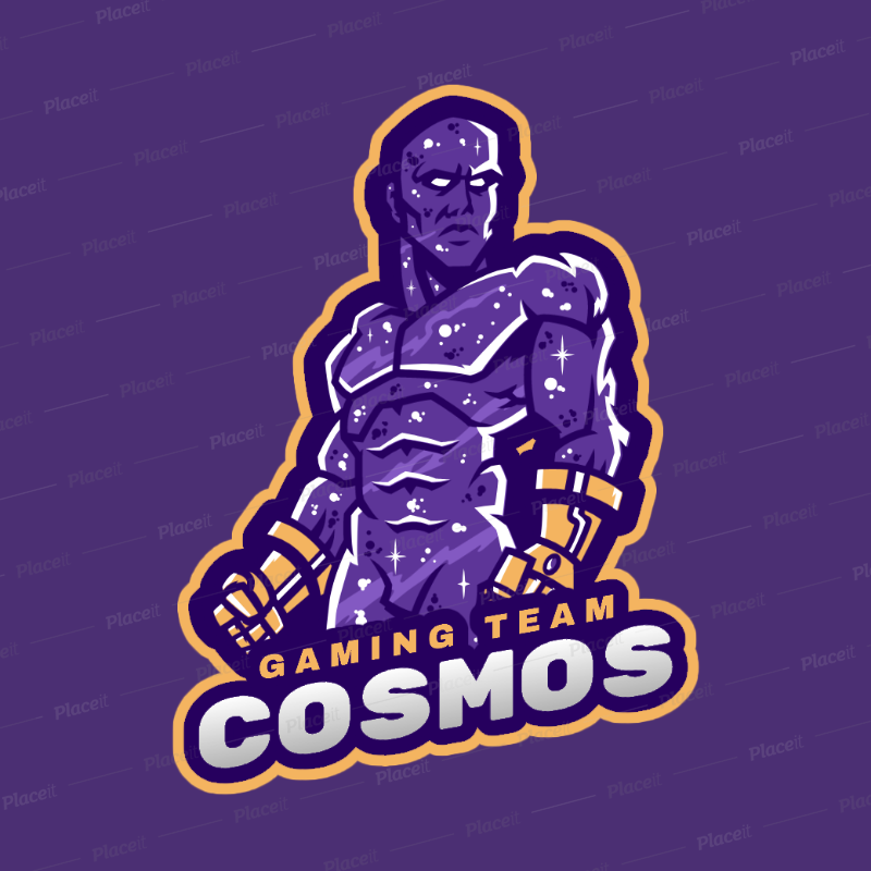 Fortnite Inspired Gaming Logo Maker Featuring A Galaxy Skin Warrior 2397b 2407