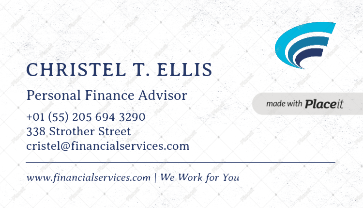 Placeit simple financial advisors business card maker simple business card template for financial advisors 511foreground image colourmoves