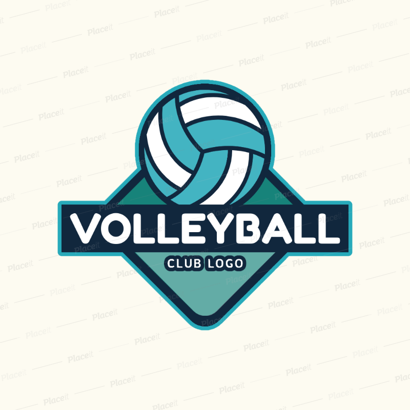 Placeit Logo Design Template For A Volleyball Club
