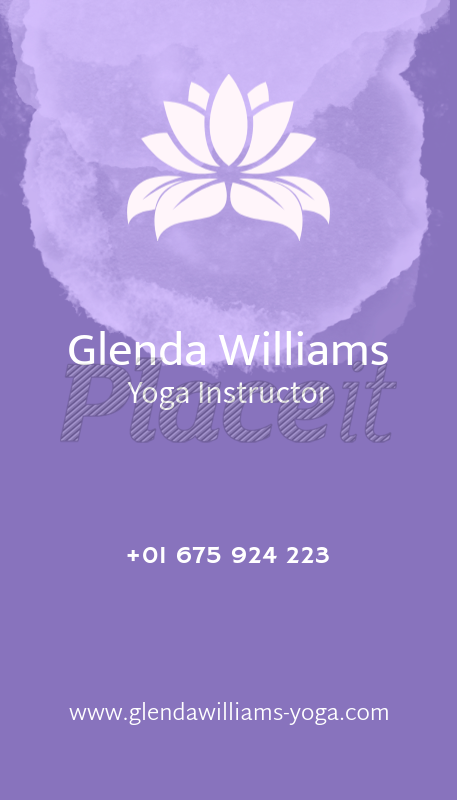 Placeit yoga teacher business card maker with lotus flower yoga teacher business card maker with lotus flower 105eforeground image reheart Images