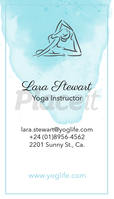 Placeit vertical yoga business card maker vertical yoga business card maker a105foreground image reheart Image collections