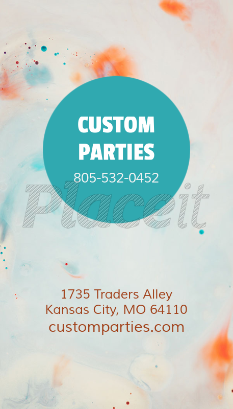 Placeit business card template for custom party planner business card template for custom party planner 552bforeground image colourmoves