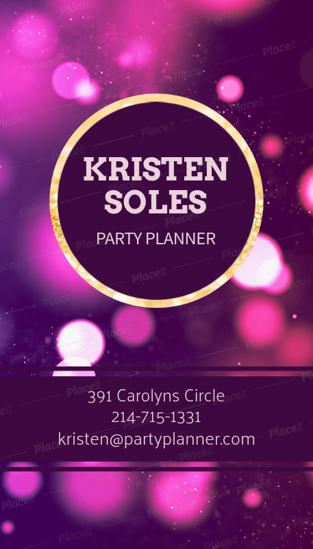 Placeit party planner business card creator party planner business card creator 552cforeground image colourmoves