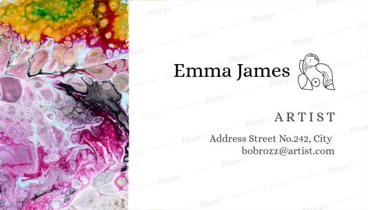 Placeit painter business card template artist business card template a89foreground image friedricerecipe