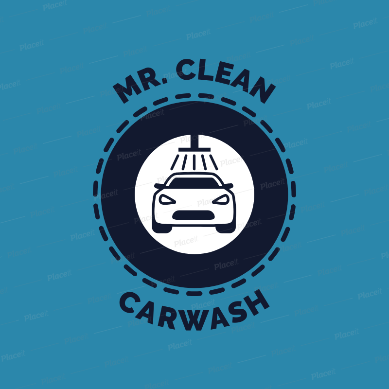 Placeit Car Wash Logo Maker With A Modern Badge
