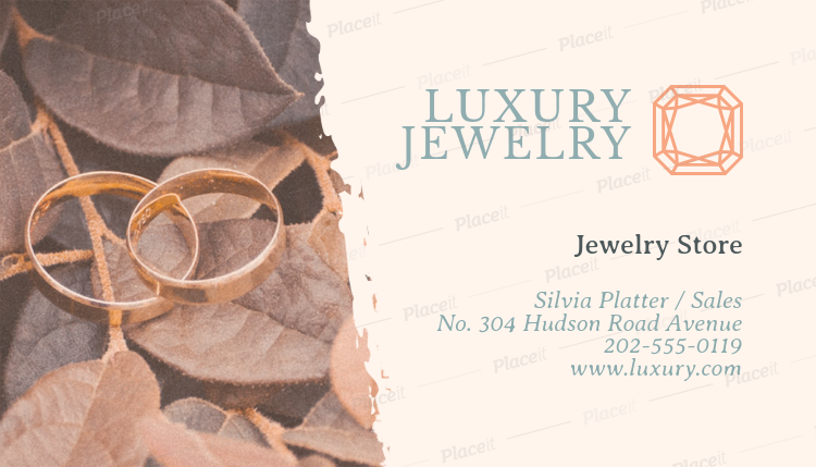 Placeit jewelry store business card maker jewelry store business card maker a219foreground image reheart Gallery