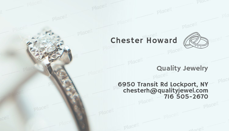 Placeit business card template for a jewelry store business card template for a jewelry store 219cforeground image reheart Gallery