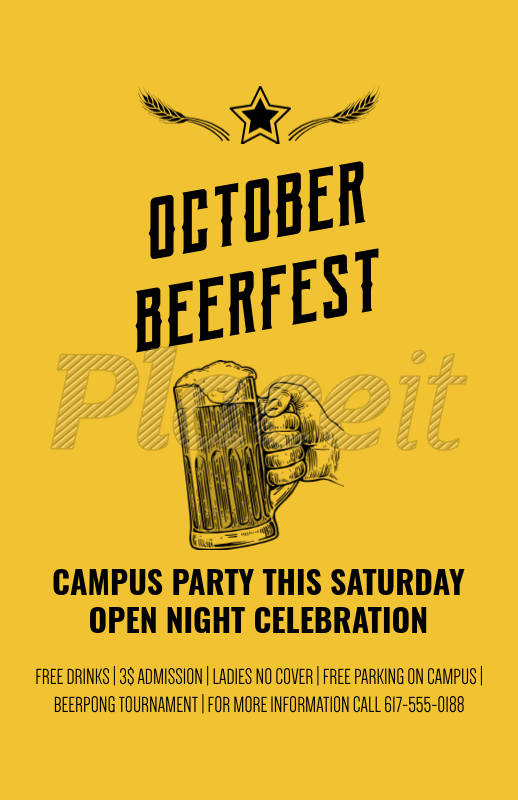 placeit online flyer maker for oktoberfest parties