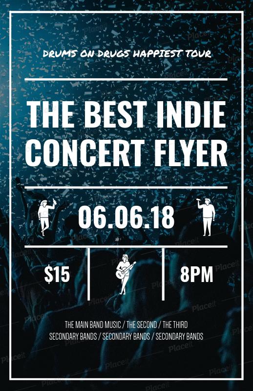 placeit online flyer maker for concert flyers