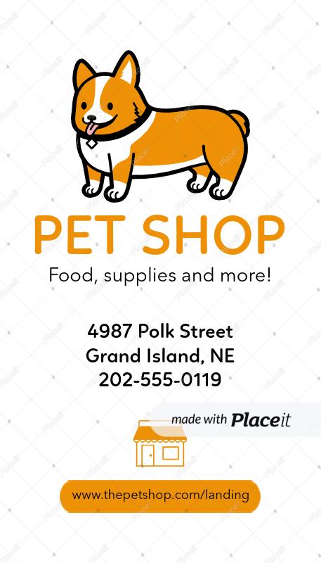 Placeit pet shop vertical business card template pet shop vertical business card template a184foreground image colourmoves
