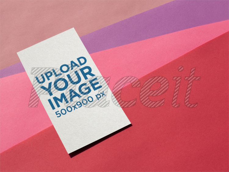 Placeit vertical business card mockup on a multi colored surface vertical business card mockup on a multi colored surface a14990foreground image colourmoves