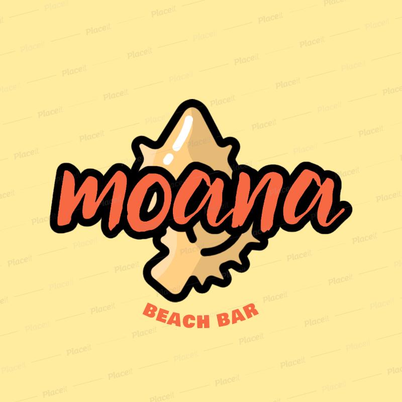 Placeit Beach Club Logo Creator With A Seashell Clipart