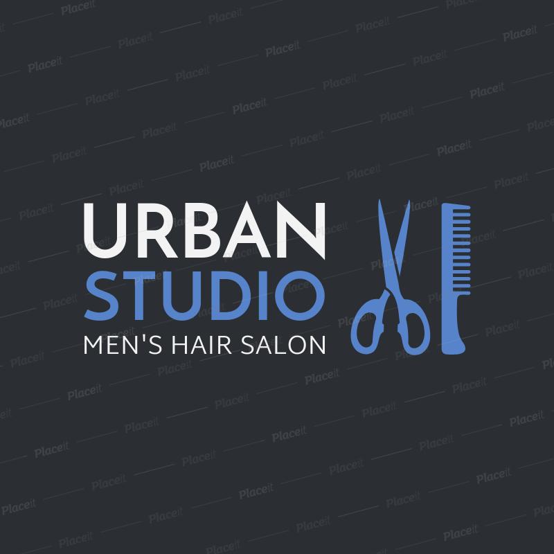 Placeit Men S Hair Salon Logo Maker
