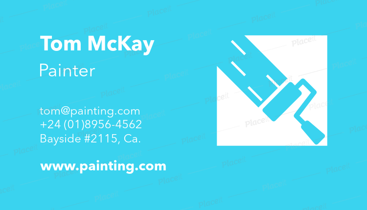 painter business card template a116foreground image - Painting Business Cards