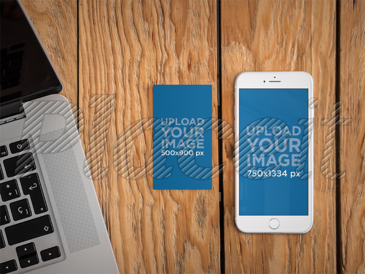 Placeit iphone 6 and business card mockup template iphone 6 and business card mockup template a4650foreground image wajeb Choice Image