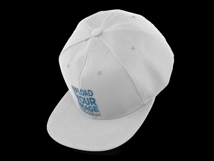 placeit floating snapback hat mockup over a png background