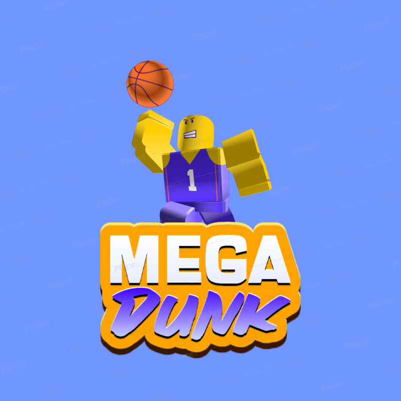 Placeit Logo Generator Inspired By Roblox For A Basketball Gaming Team