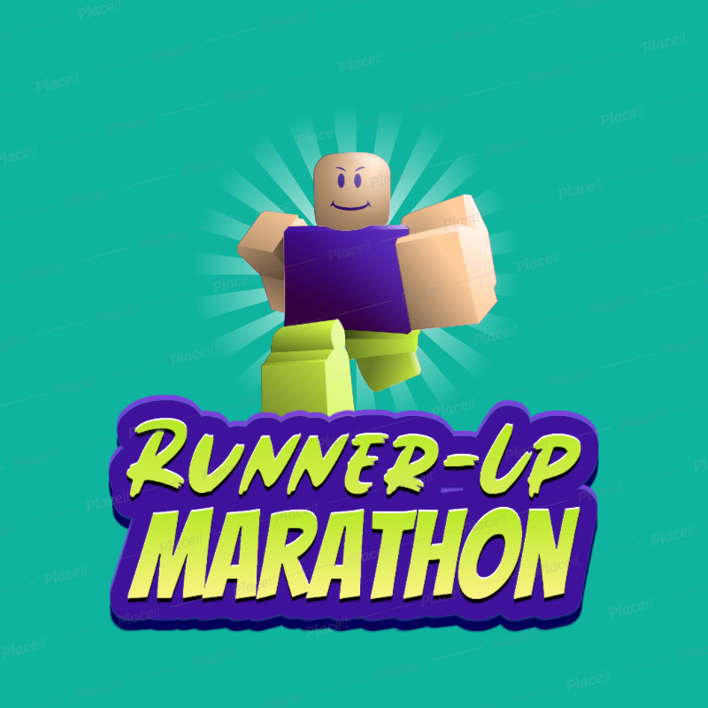 Placeit Logo Creator Featuring A Roblox Inspired Runner Graphic