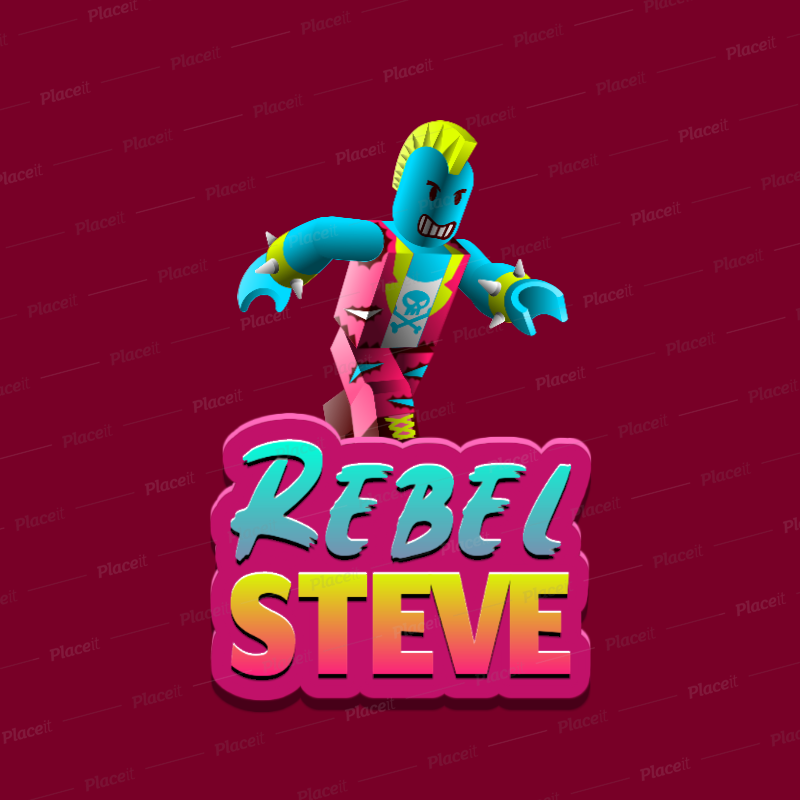 Placeit Gaming Logo Generator With A Roblox Inspired Rebel Character