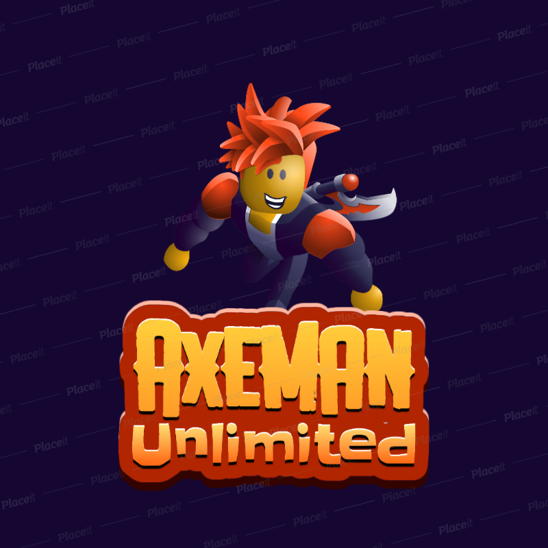 Placeit Roblox Inspired Logo Template With A 3d Character