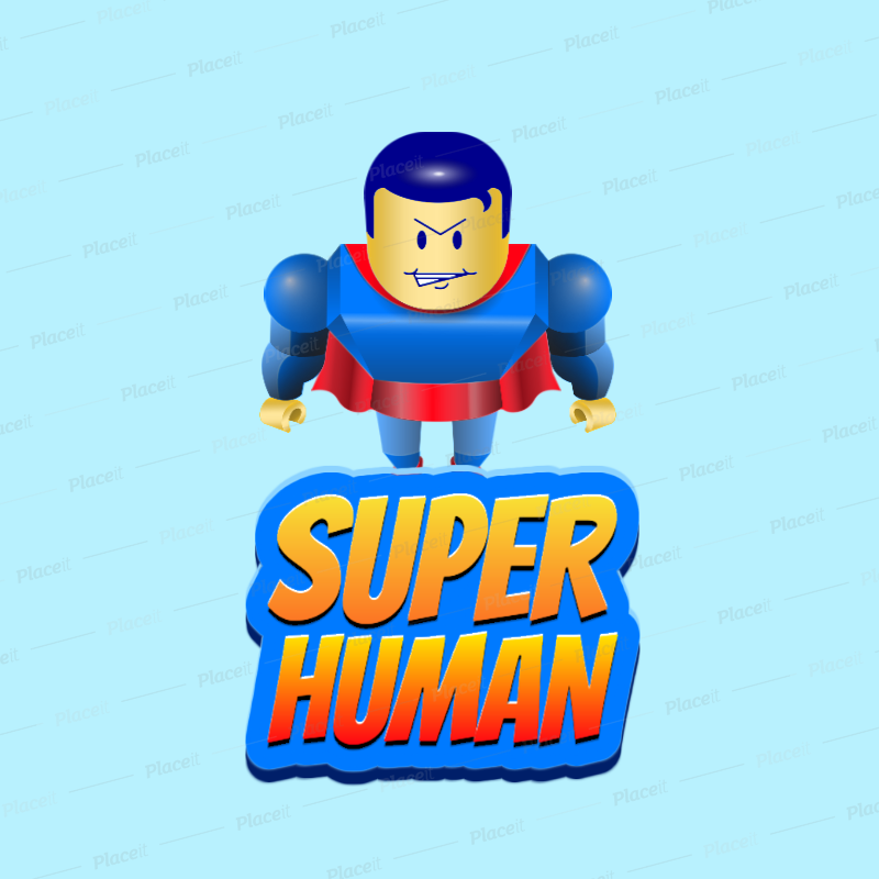 Placeit Roblox Inspired Gaming Logo Maker Featuring A Block Style Superhero