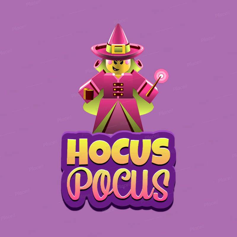 Placeit 3d Gaming Logo Maker Featuring A Roblox Inspired Witch