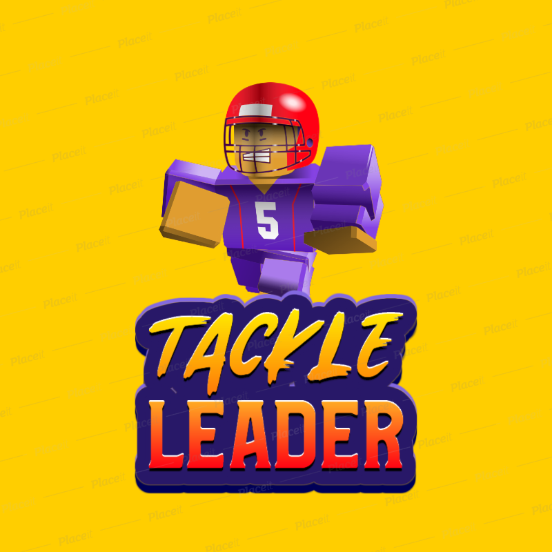 Placeit Roblox Inspired Logo Maker With A Football Player Graphic