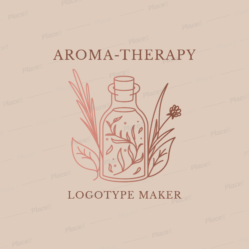 Placeit Alternative Medicine Logo Maker For Aromatherapy Products