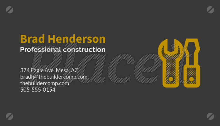 contractor business card maker 99c foreground image - Contractor Business Cards