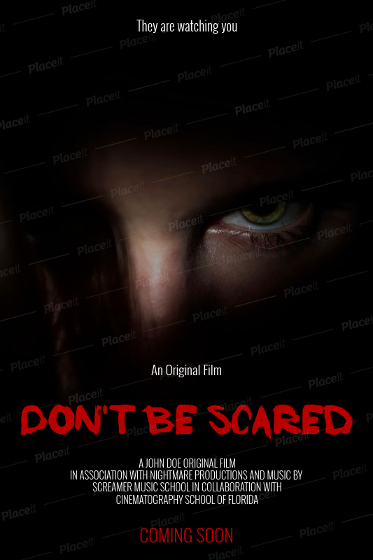 placeit online poster maker horror film poster template