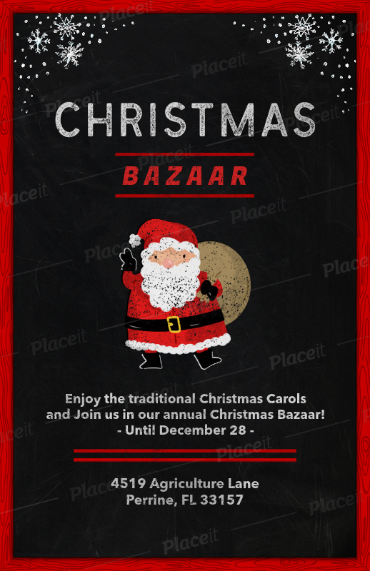 Placeit Holiday Flyer Template For A Christmas Bazaar