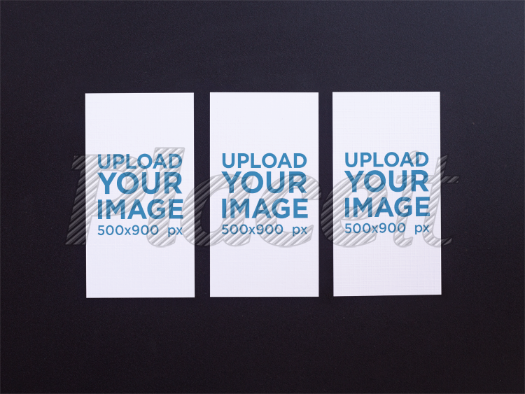 Placeit three vertical business cards mockup lying on a black surface three vertical business cards mockup lying on a black surface a15001foreground image colourmoves
