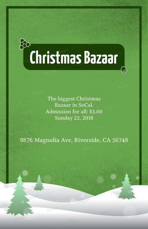 placeit christmas bazaar flyer design template with a christmas