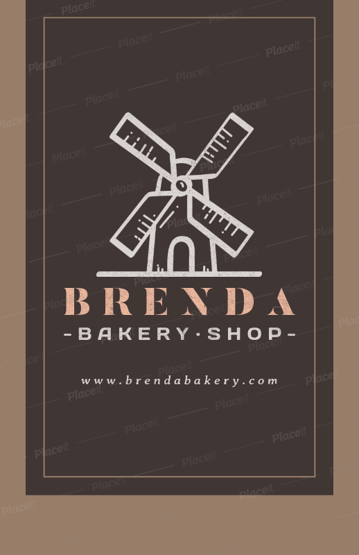 placeit online flyer maker for a bakery shop with windmill clipart