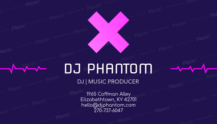 Placeit online business card maker for a dj online business card maker for a dj 130cforeground image reheart Gallery